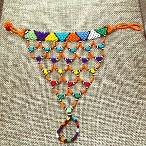 Jewelry - African style multi colored beaded hand jewelry